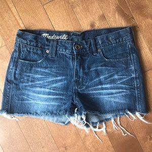Madewell Denim Distressed Shorts Size 25